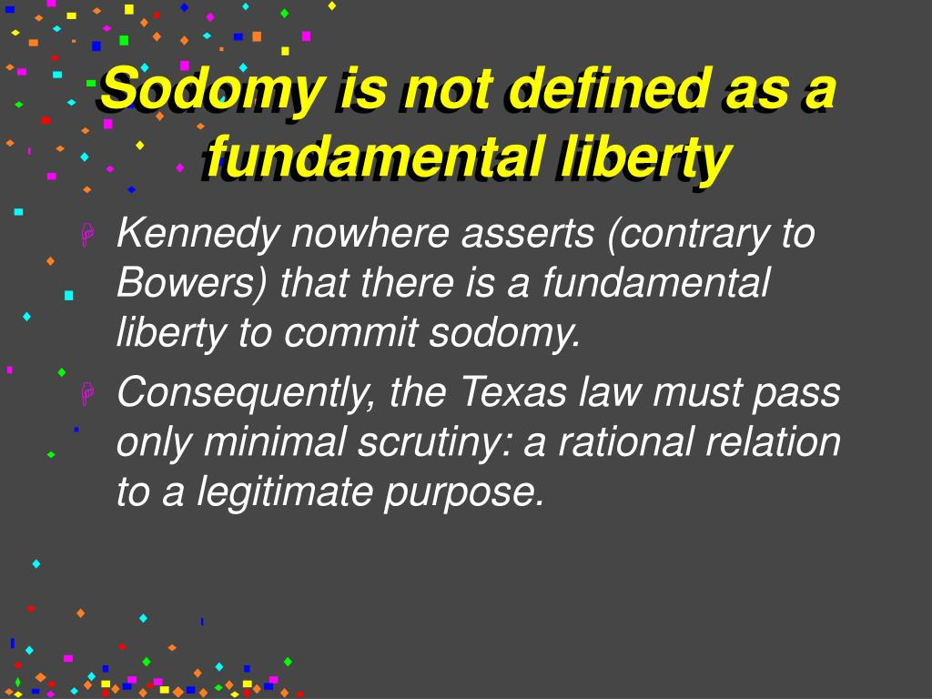 Sodomy is not defined as a fundamental liberty