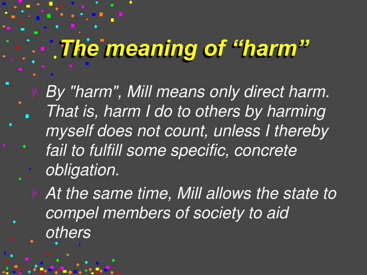 The meaning of harm