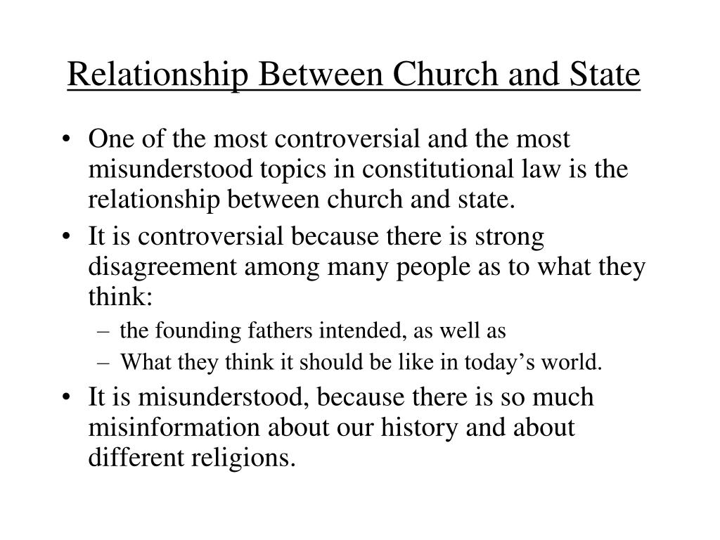 Relationship Between Church and State