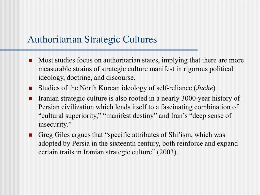 Authoritarian Strategic Cultures