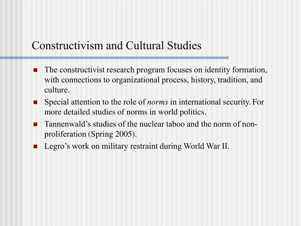 Constructivism and Cultural Studies