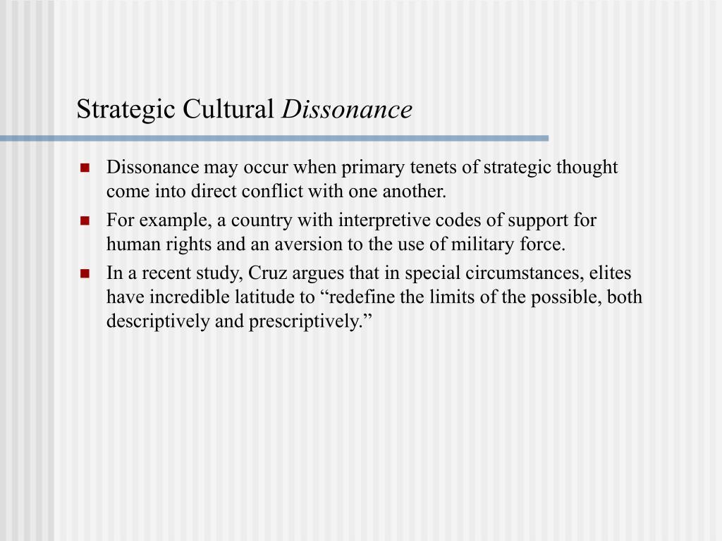 Strategic Cultural