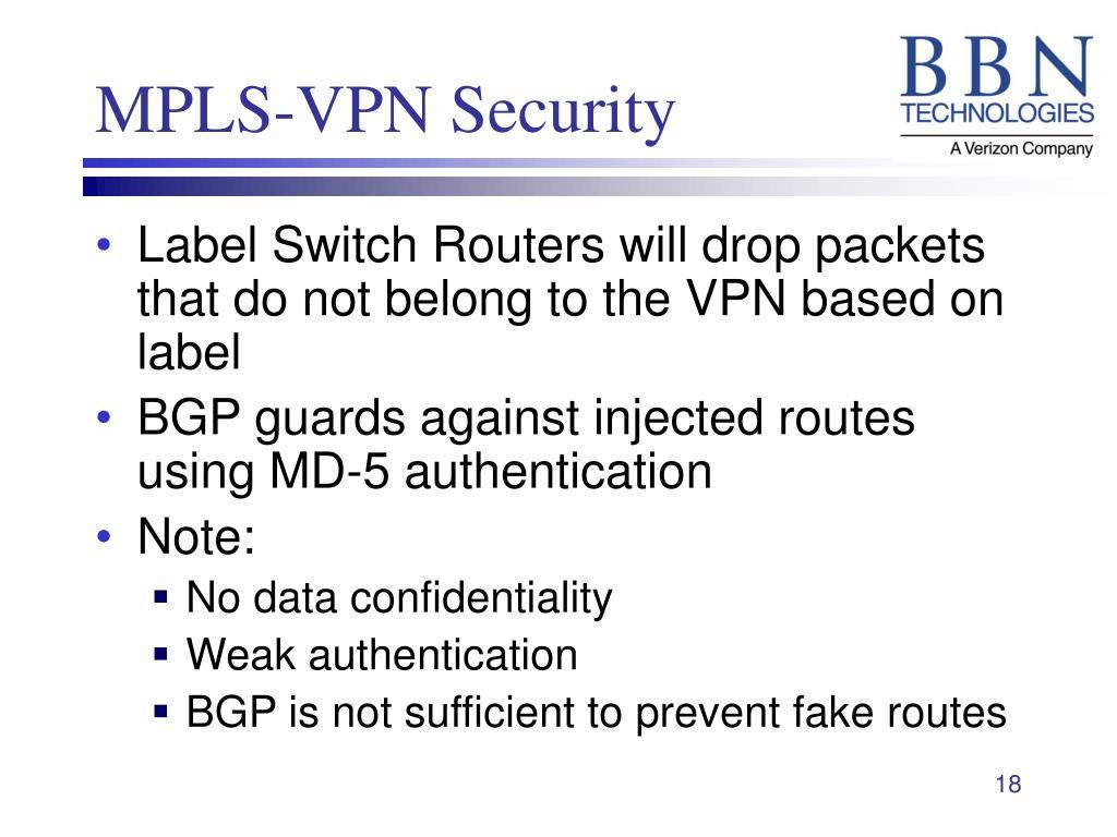 MPLS-VPN Security
