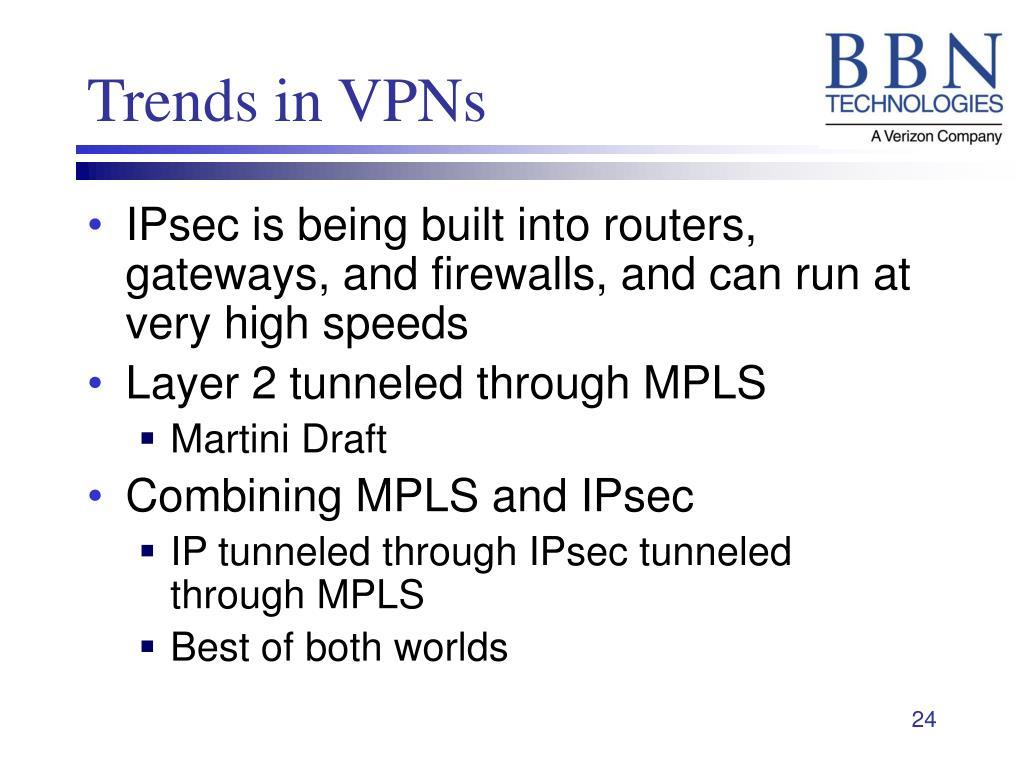 Trends in VPNs