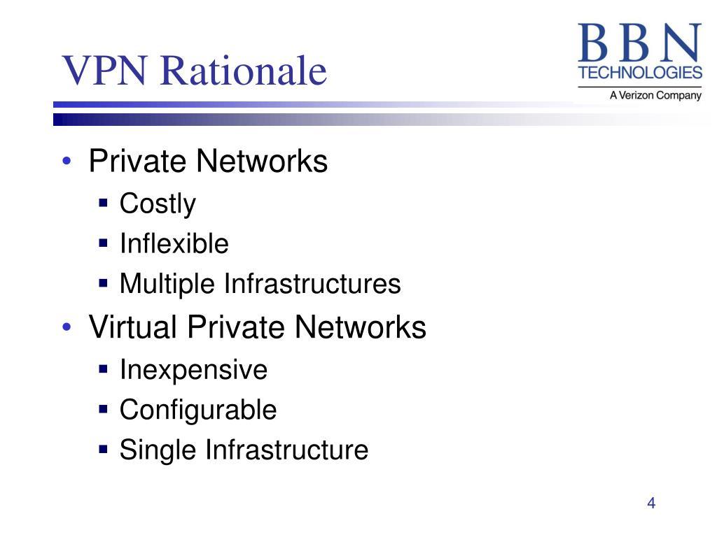 VPN Rationale