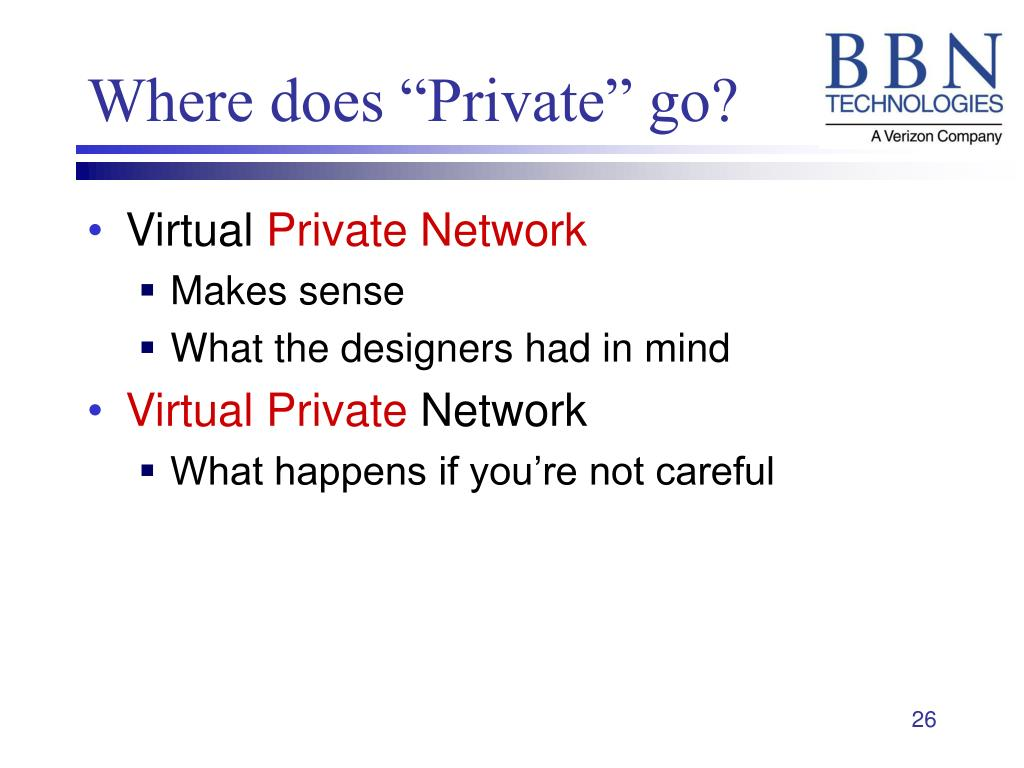 """Where does """"Private"""" go?"""