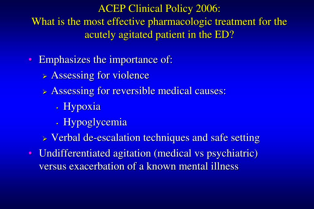ACEP Clinical Policy 2006: