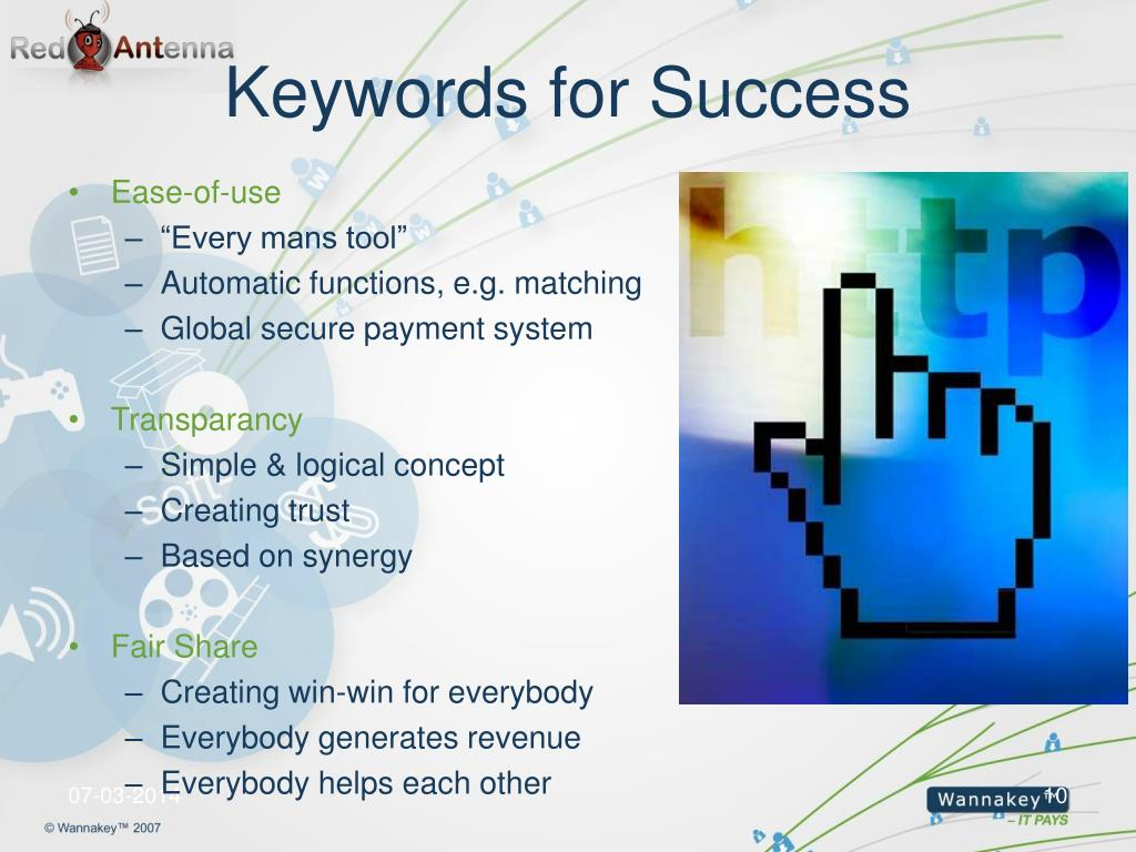 Keywords for Success