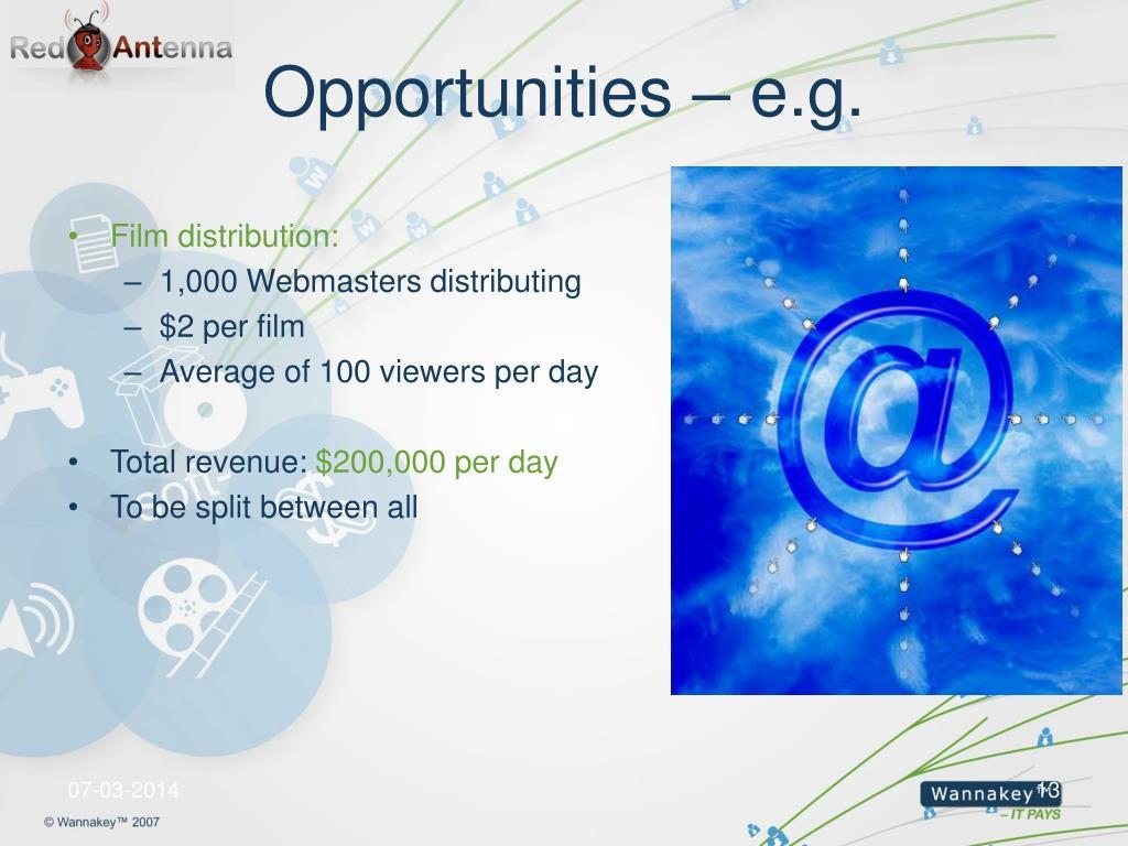 Opportunities – e.g.