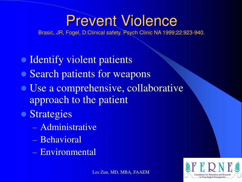 Prevent Violence