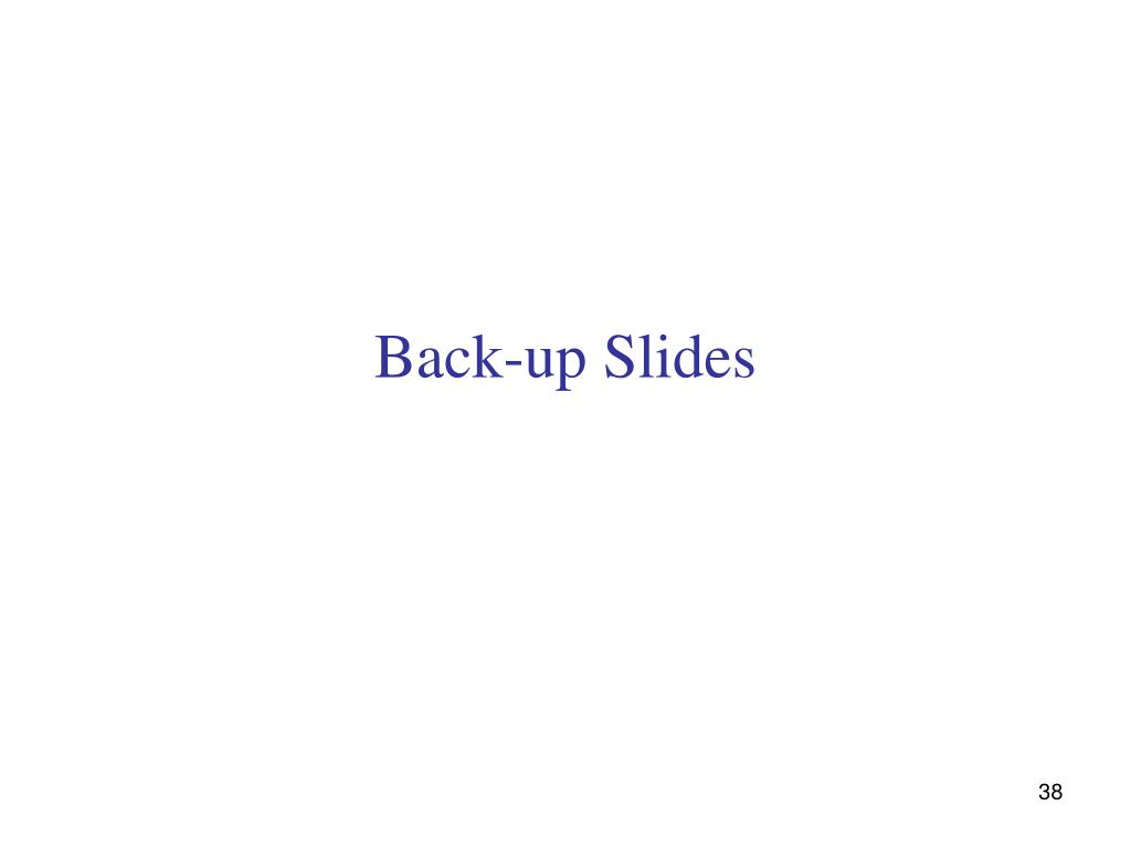 Back-up Slides