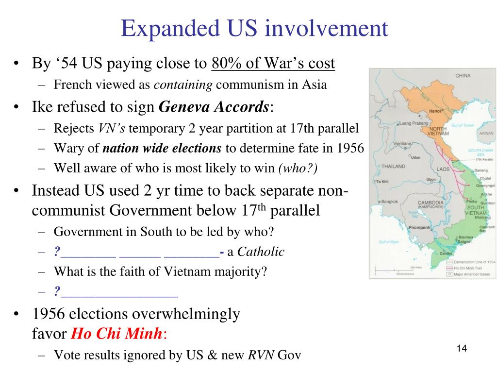 Expanded US involvement