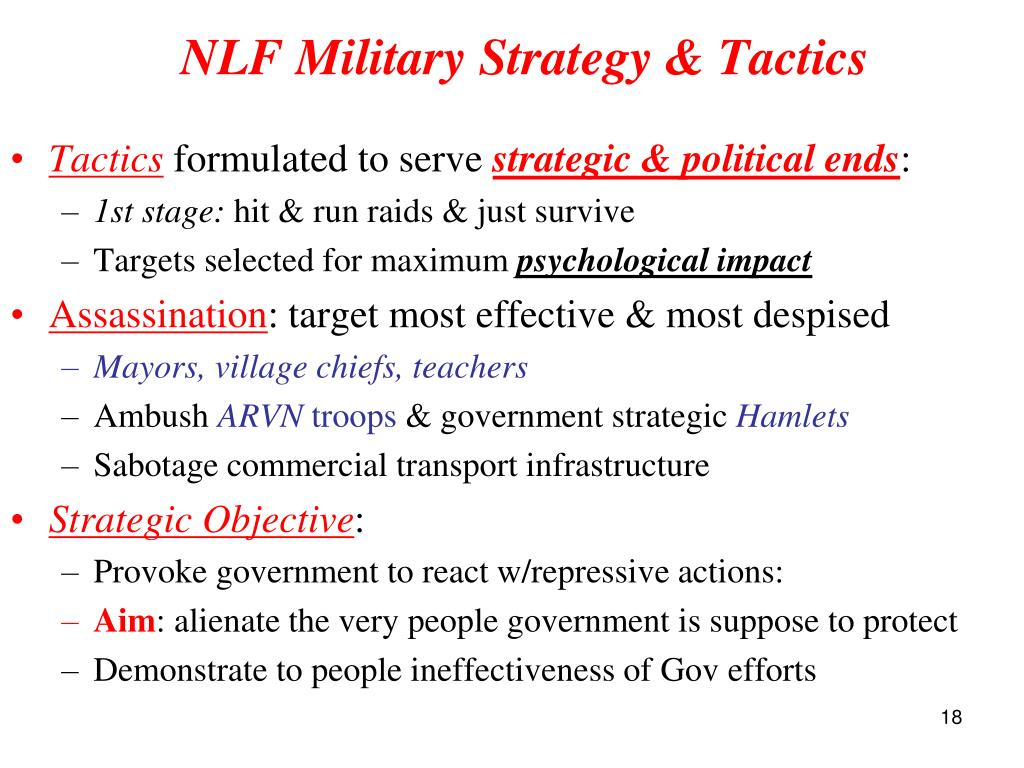 NLF Military Strategy & Tactics