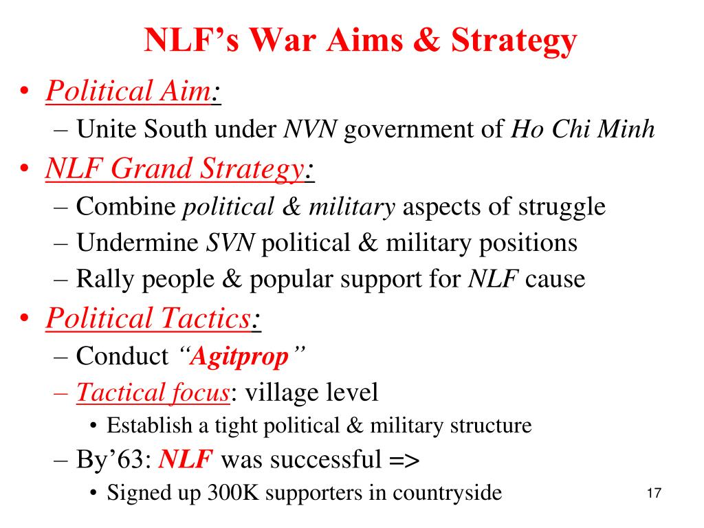 NLF's War Aims & Strategy