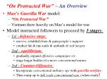 on protracted war an overview