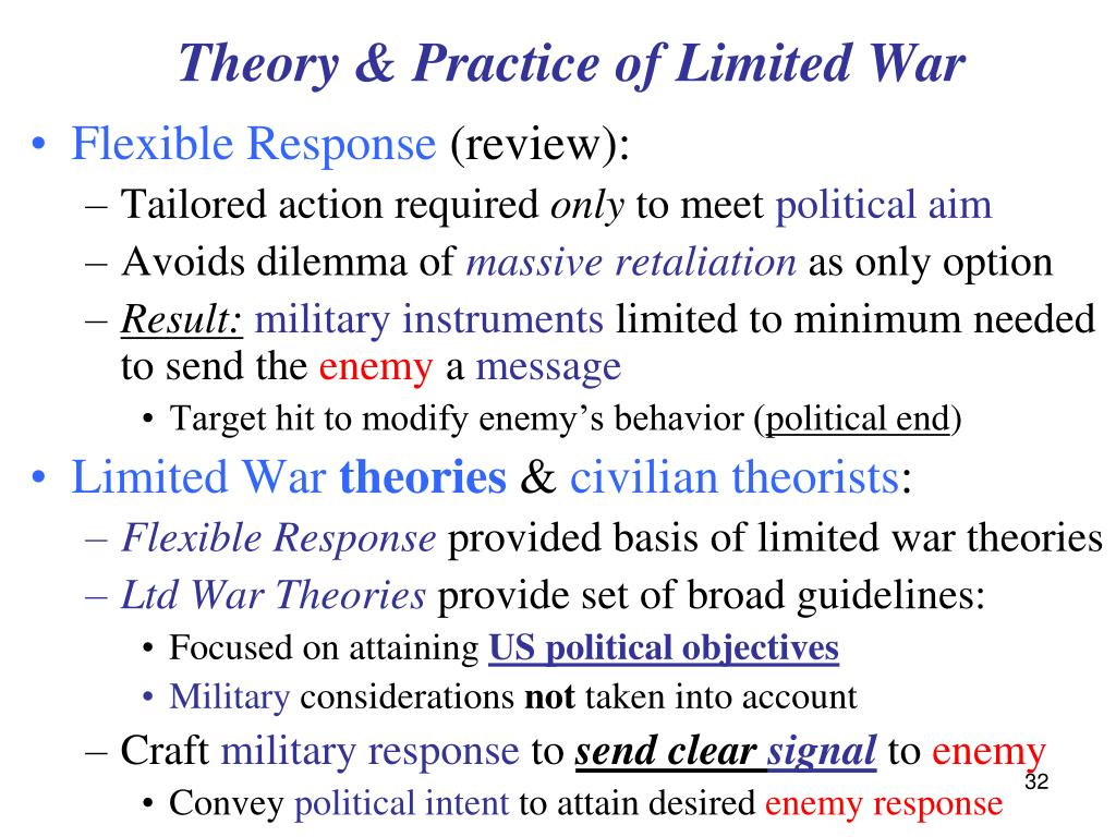 Theory & Practice of Limited War