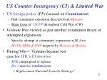 us counter insurgency ci limited war