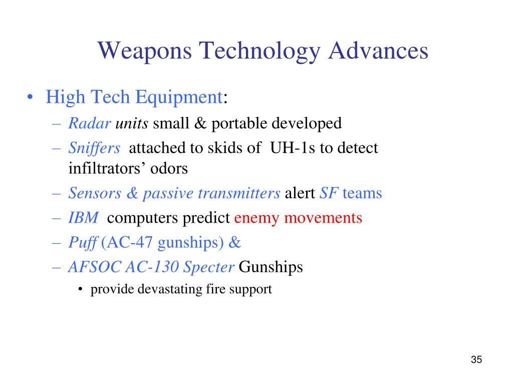 Weapons Technology Advances