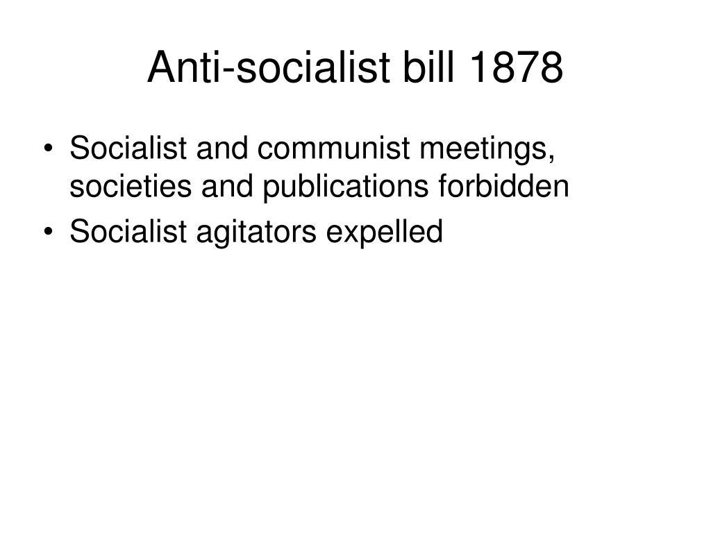 Anti-socialist bill 1878