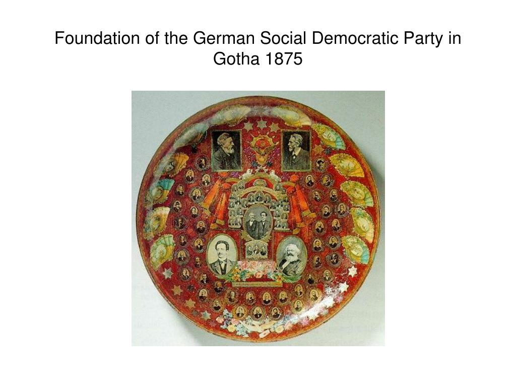 Foundation of the German Social Democratic Party in Gotha 1875