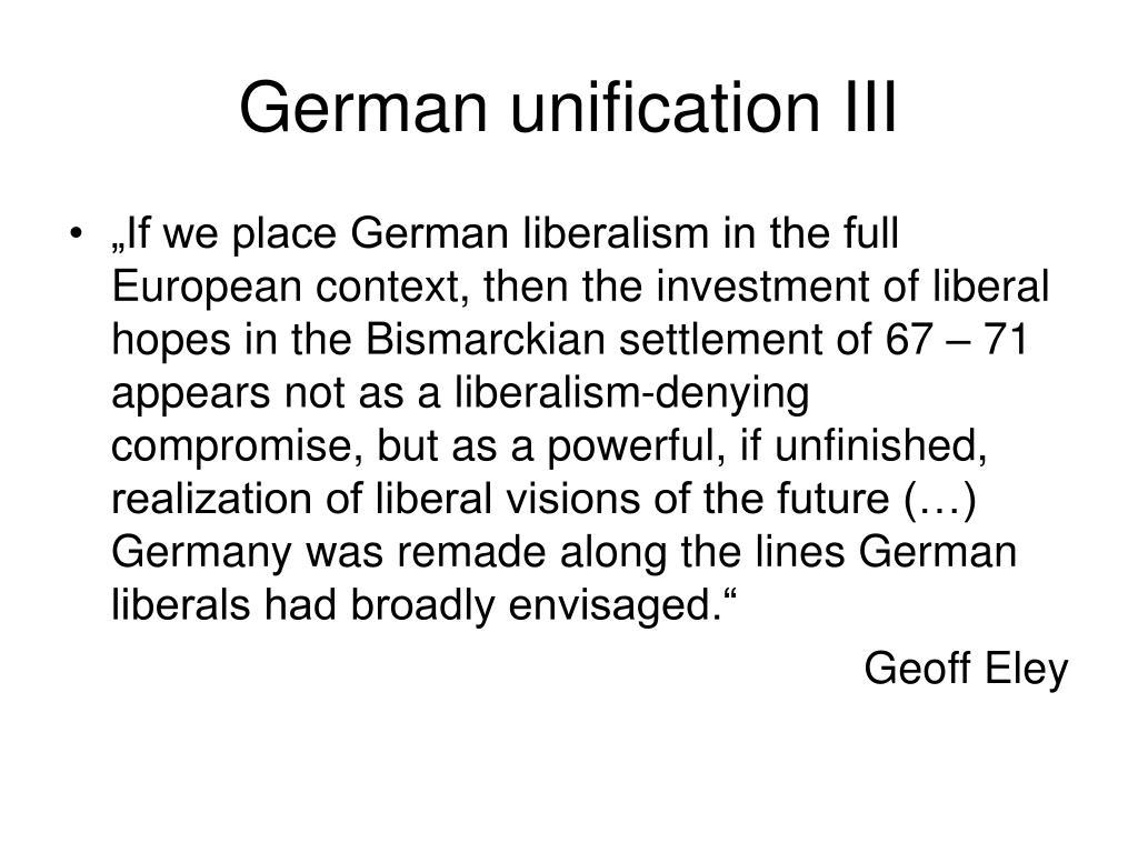 German unification III