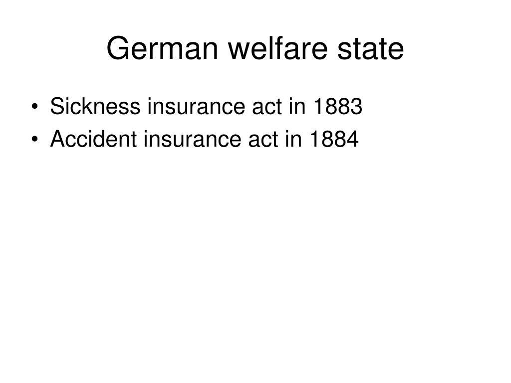 German welfare state