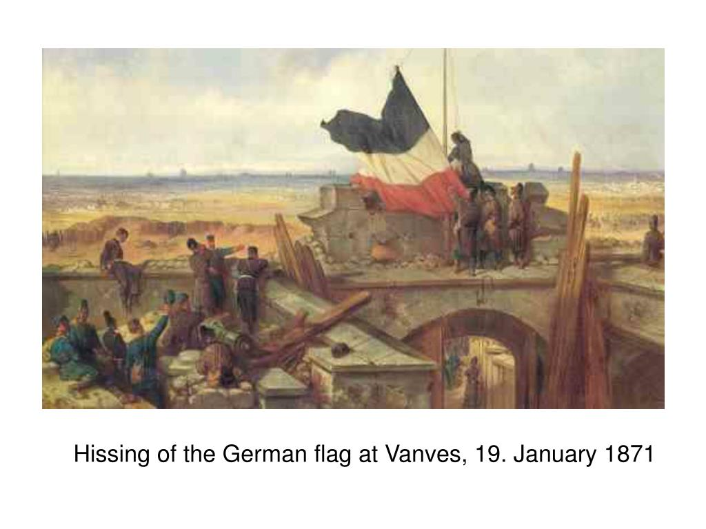 Hissing of the German flag at Vanves, 19. January 1871