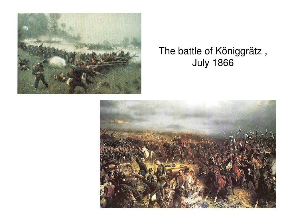 The battle of Königgrätz ,