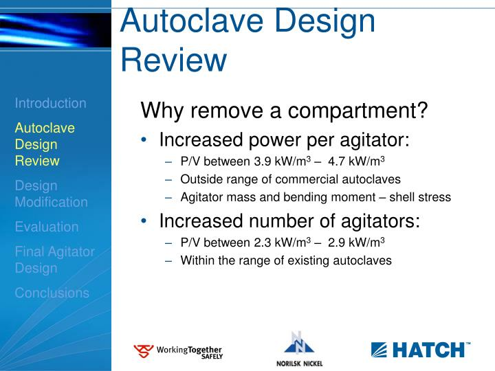 Autoclave Design Review