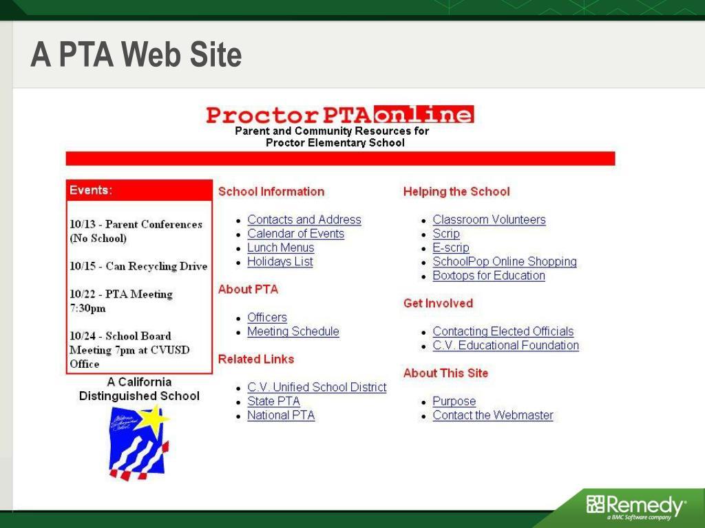 A PTA Web Site