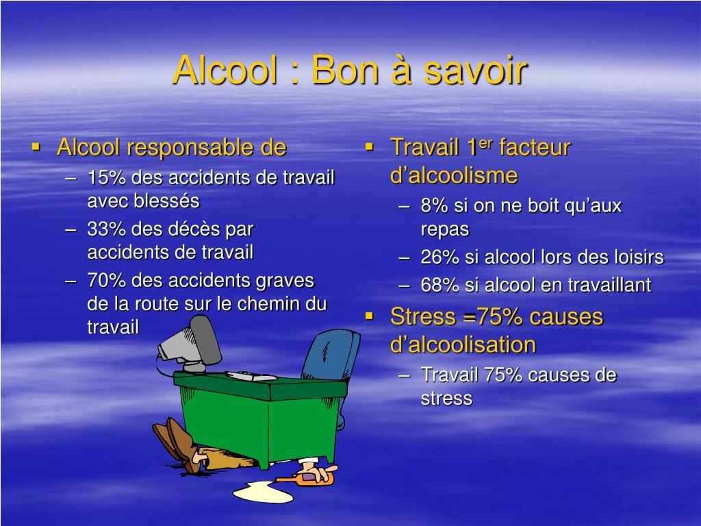 Alcool responsable de