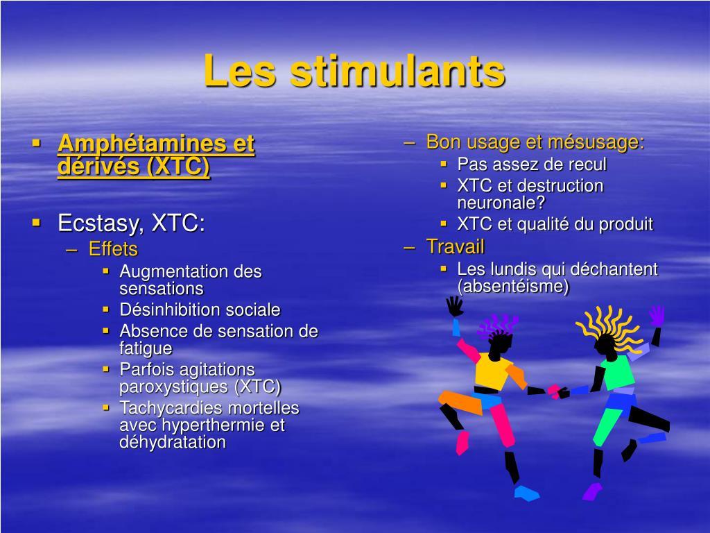 Amphétamines et dérivés (XTC)