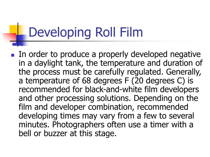 Developing roll film2