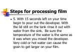 steps for processing film15