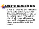 steps for processing film18