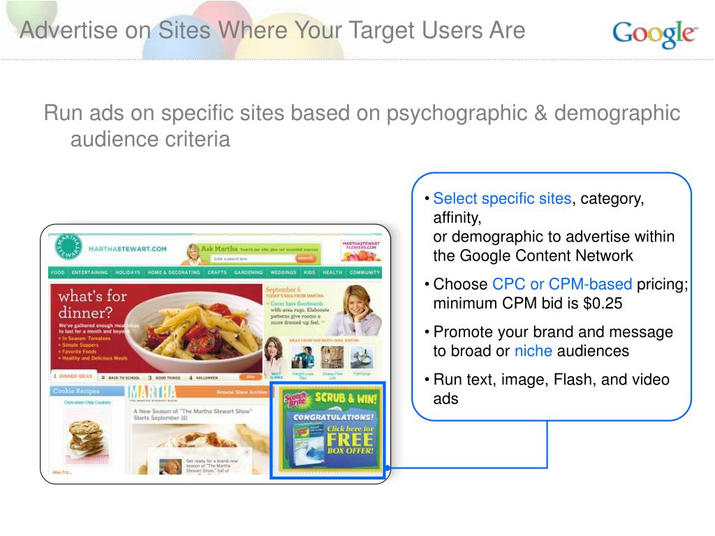 Advertise on Sites Where Your Target Users Are