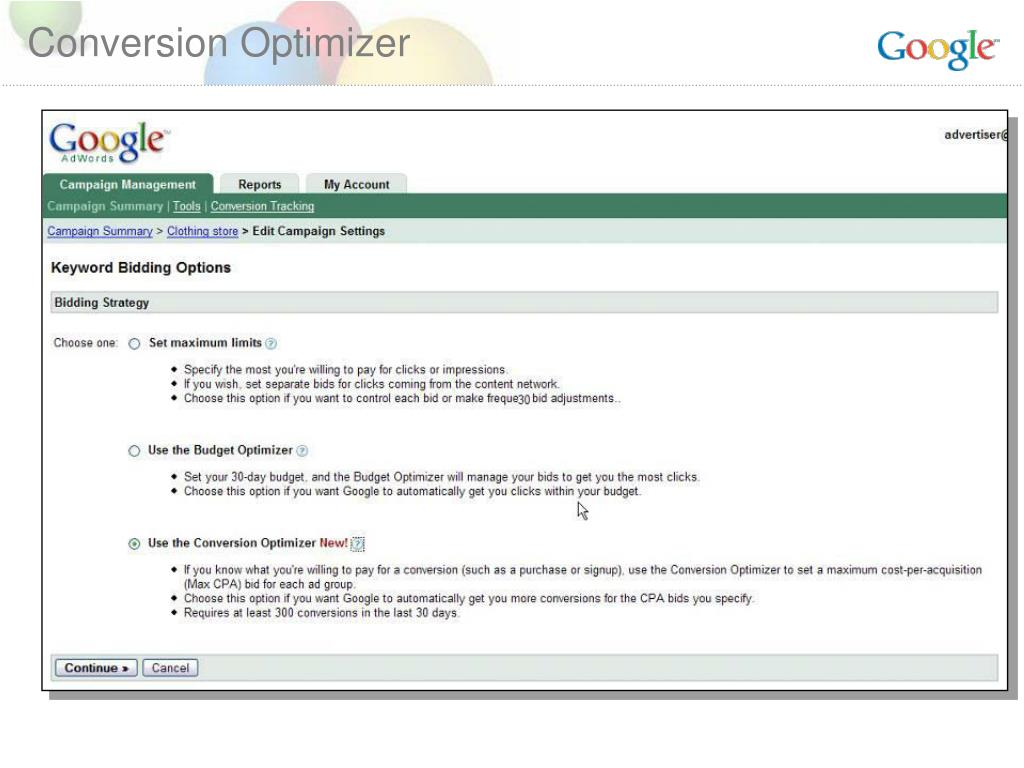 Conversion Optimizer