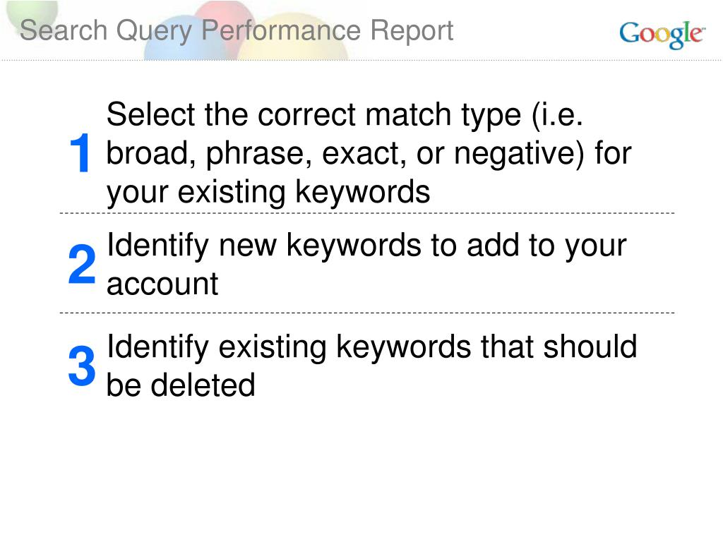 Search Query Performance Report