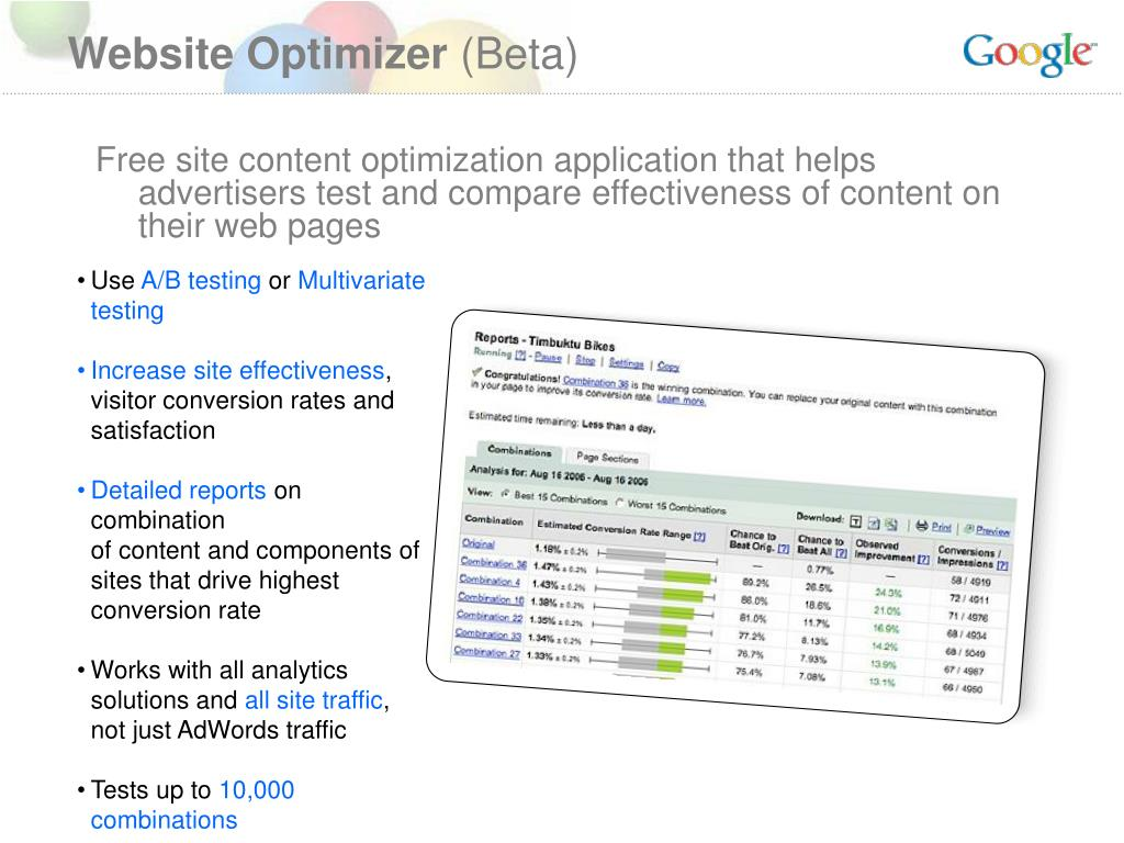 Website Optimizer