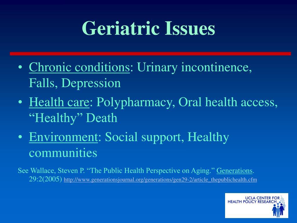 Geriatric Issues