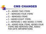 cms changes