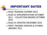 important dates13