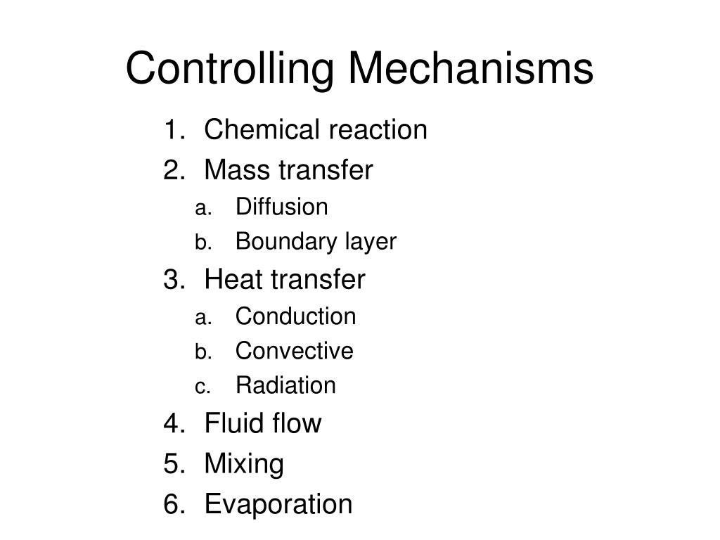 Controlling Mechanisms