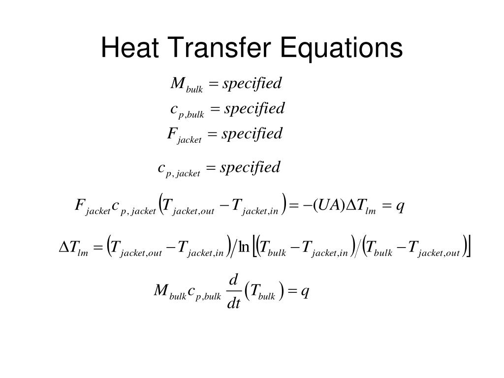 Heat Transfer Equations