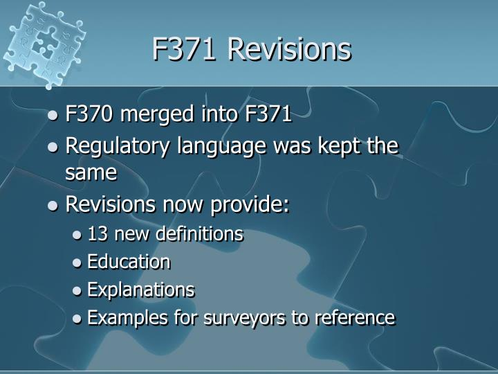 F371 revisions