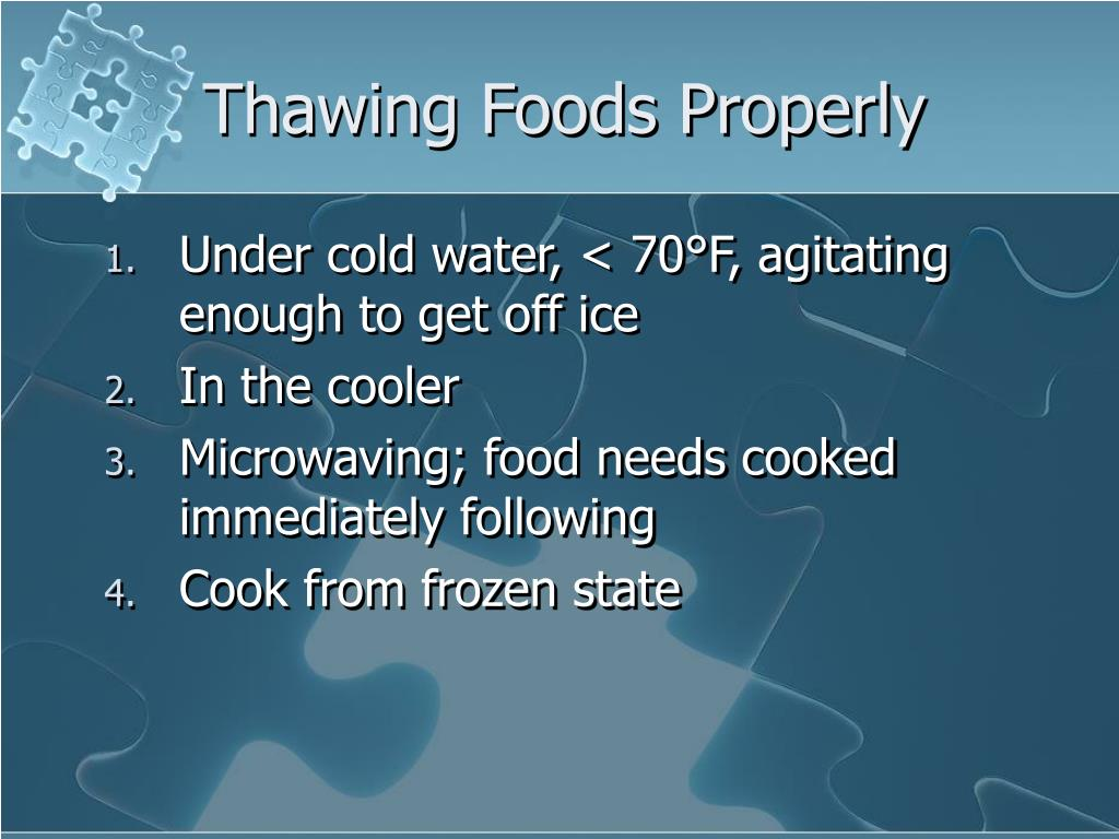 Thawing Foods Properly