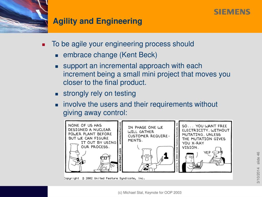 Agility and Engineering