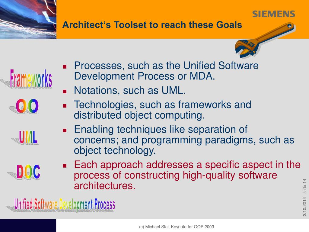 Architect's Toolset to reach these Goals