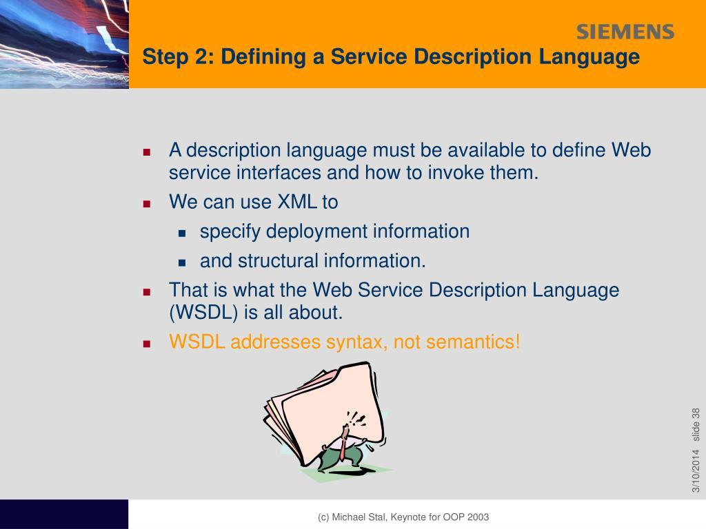 Step 2: Defining a Service Description Language