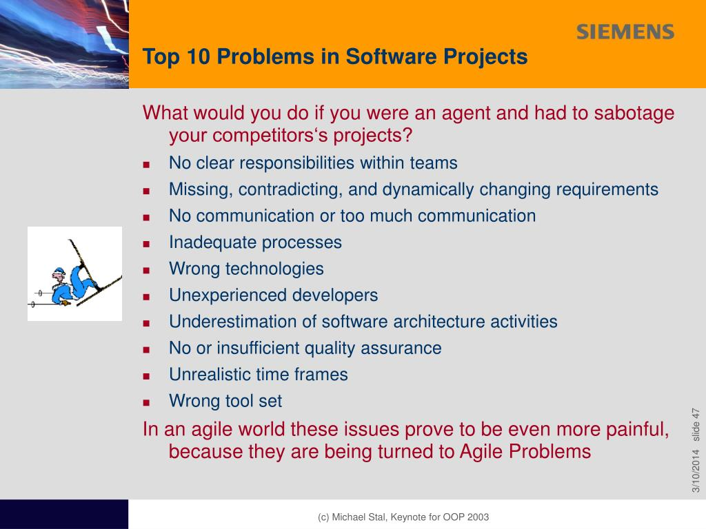 Top 10 Problems in Software Projects